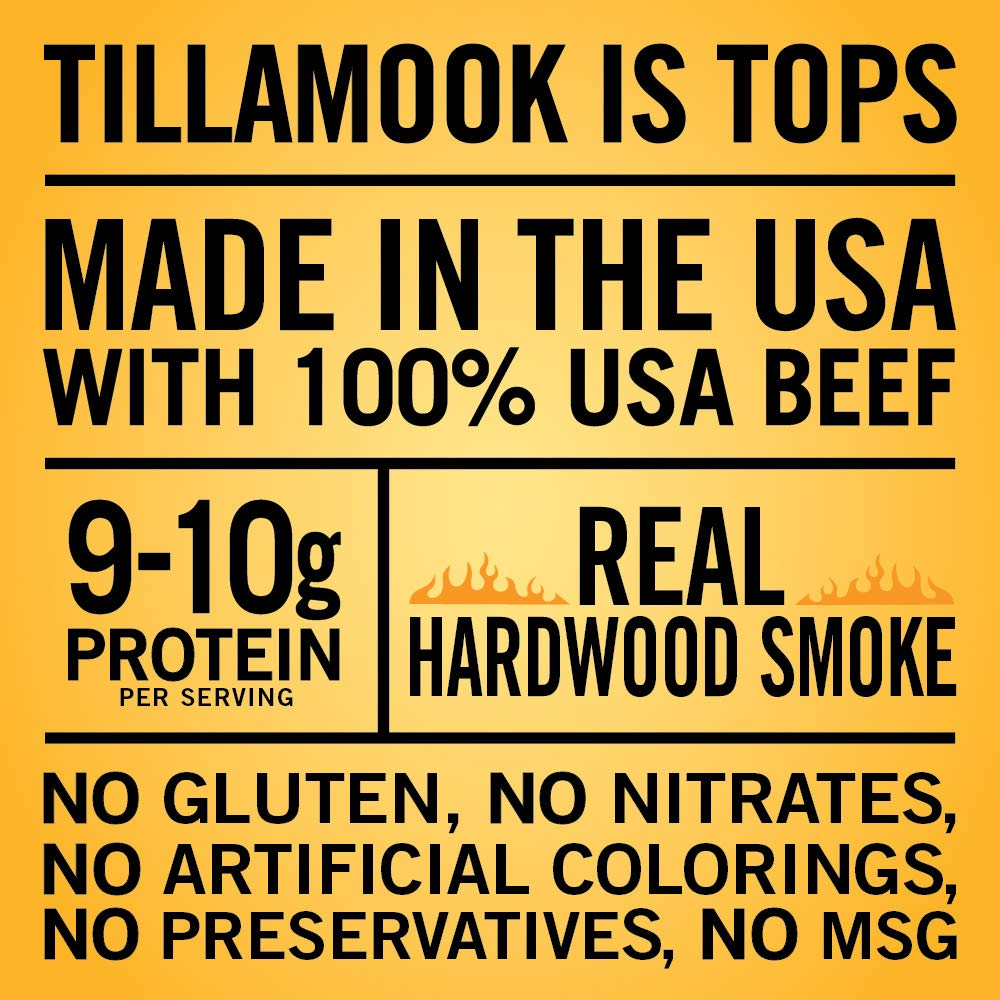 Tillamook Country Smoker All Natural, Real Hardwood Smoked Beef Jerky, Spicy & Sweet 10-oz Bag by Tillamook (Image #3)