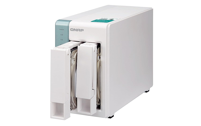 QNAP TS-251A Ethernet Torre Color Menta, Blanco NAS - Unidad Raid (2 TB, Unidad de Disco Duro, Unidad de Disco Duro, SSD, Serial ATA III, Serial ATA III, ...