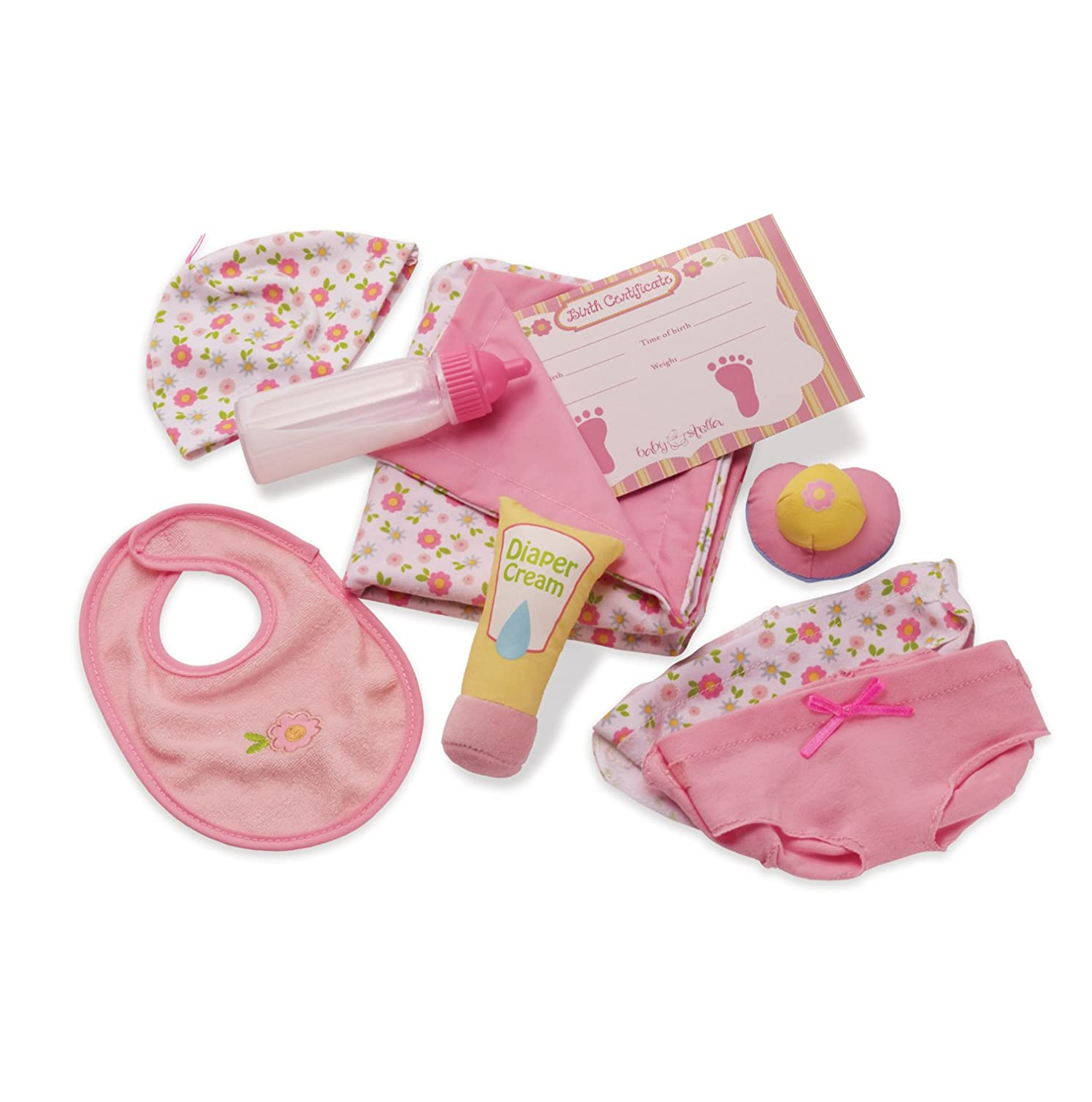 ce83ffa67cb Amazon.com  Manhattan Toy Baby Stella Bringing Home Baby Doll Accessories  Set for 15