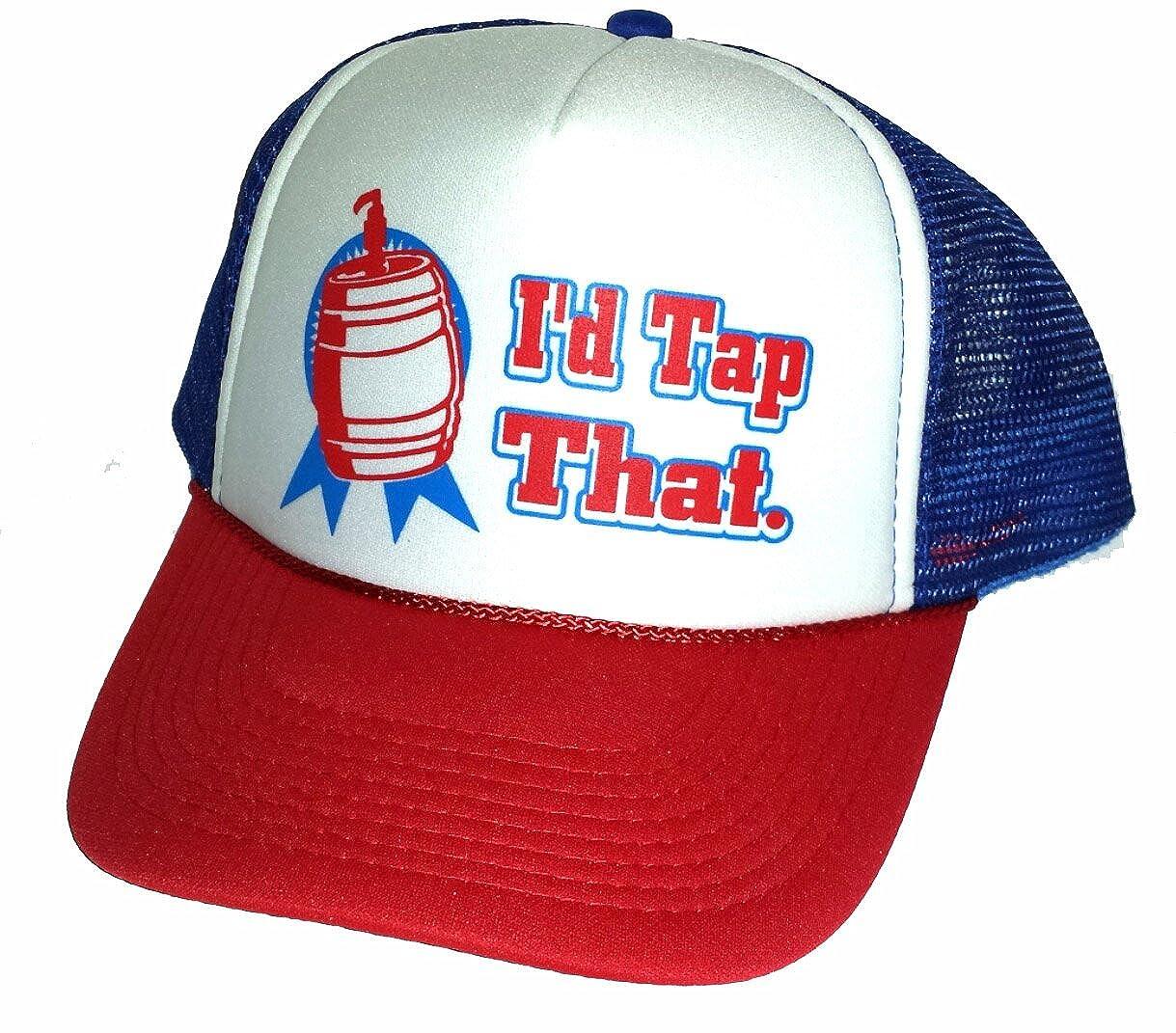 I'd Tap That Keg Mesh Trucker Hat Cap Snapback Beer