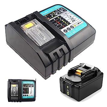 SHS Cargador 3 A y batería para Makita DC18RC/DC18RA 14.4 y ...