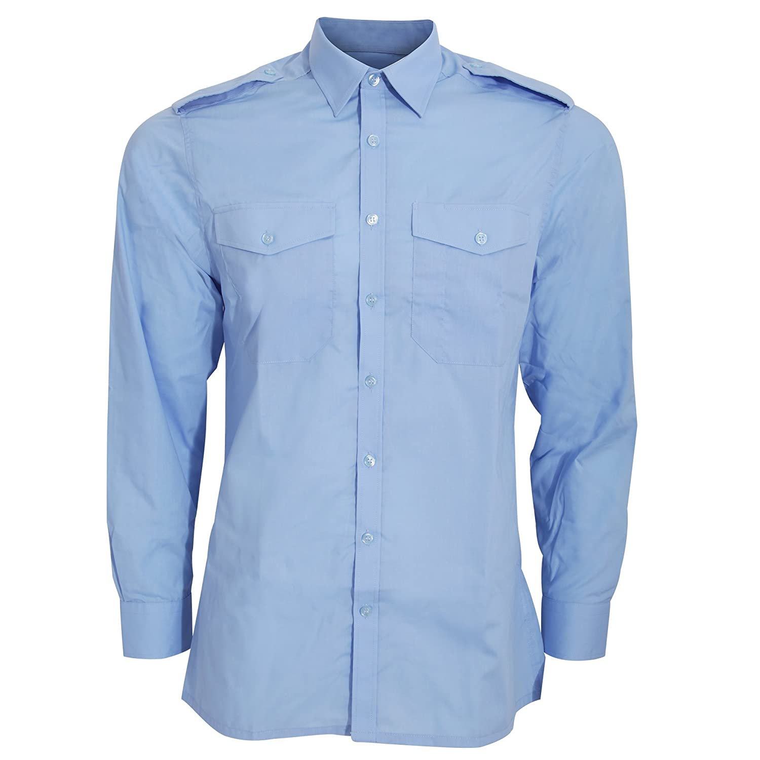 Kustom Kit Mens Long Sleeve Pilot Shirt (18) (Light Blue) UTBC3233_19