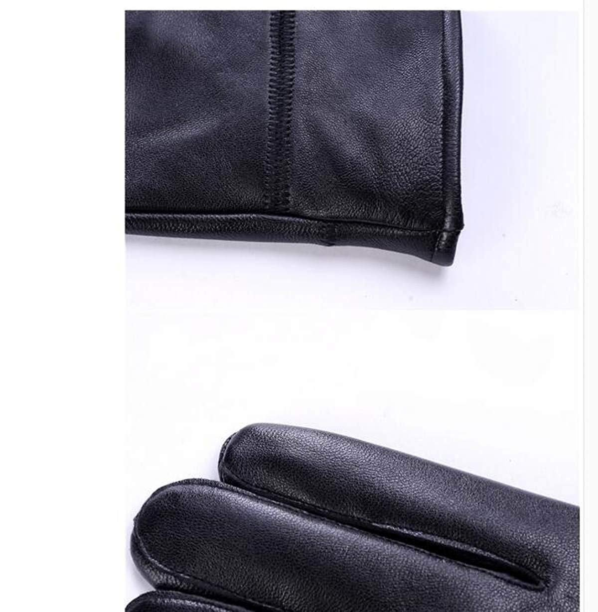 CWJ Gloves Ladies Ride Thicken Warm Autumn and Winter Men's Style,WomenBlack,Large by CWJ (Image #4)