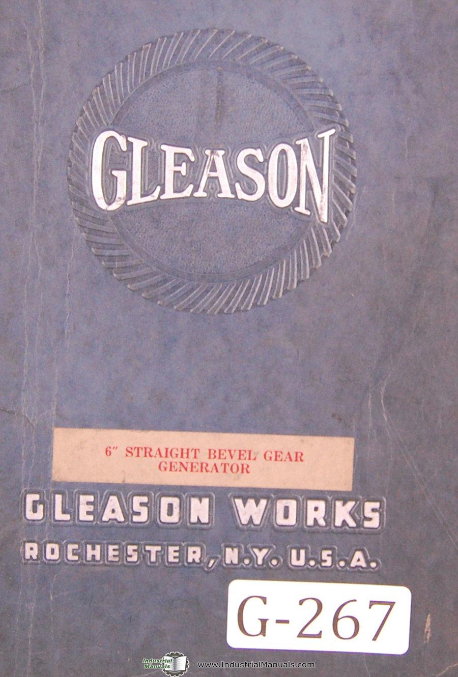 Gleason Operators Instruction 6 In Strt Bevel Gear Generator