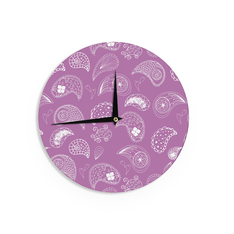 Kess InHouse Skye Zambrana in Bloom Pink Floral Wall Clock 12-Inch