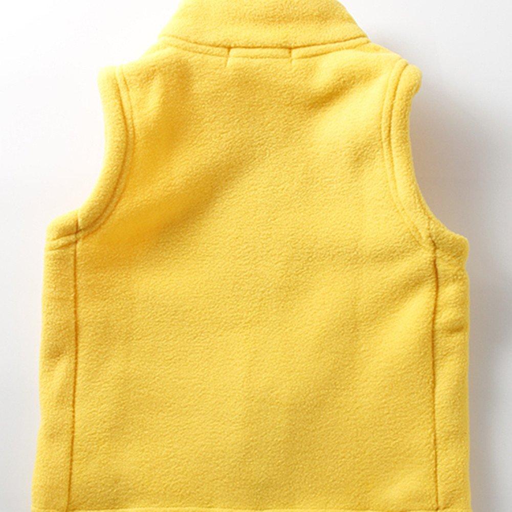 LittleSpring Kids Fleece Vests Zipper Solid for 2-8 Years Old