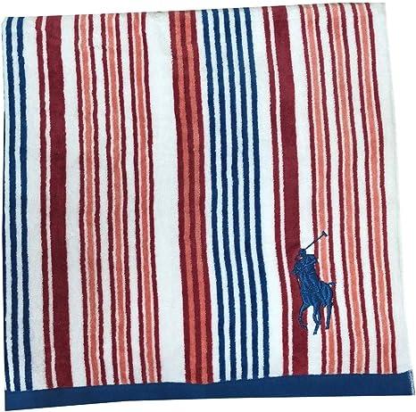 NEW Ralph Lauren Polo Home Lauren Shower Curtain Red White Big Pony 72 x 72