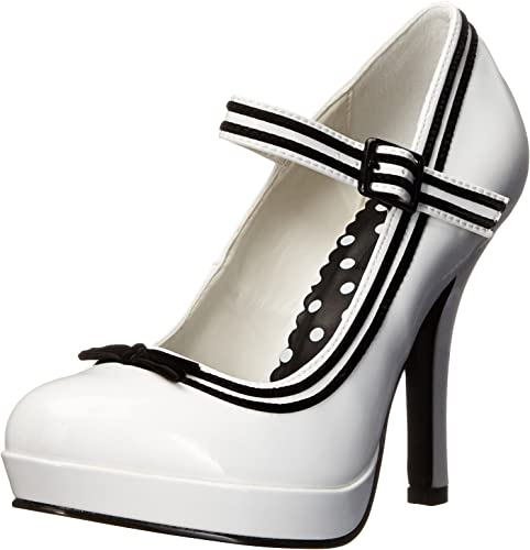 Pin Up Couture SECRET-15 Women/'s  Platforms White Patent Mary Jane Pump Heels