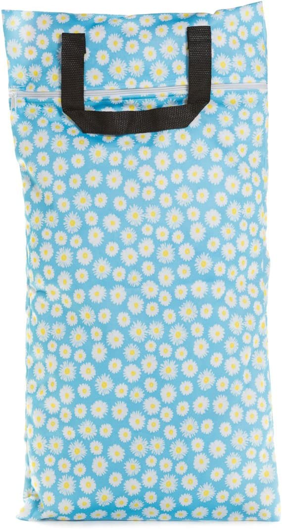 Large, Flourish Buttons Cloth Diapers Waterproof Washable Reusable Zippered Laundry Wet Bag