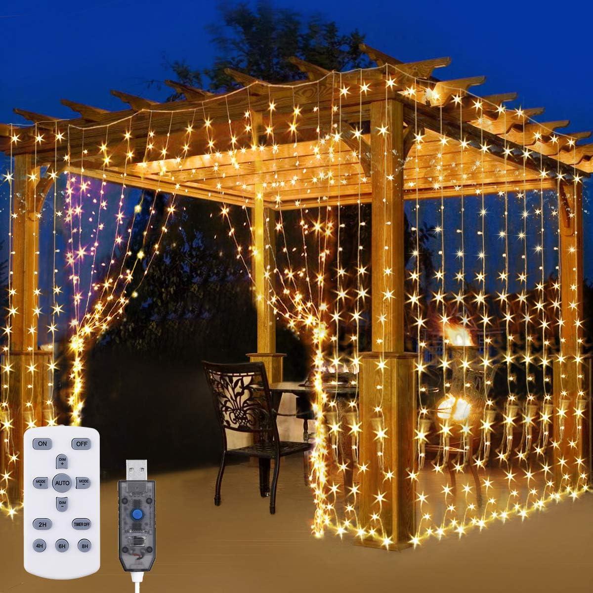 Elfeland LED Curtain Light Warm White: Amazon.es: Iluminación