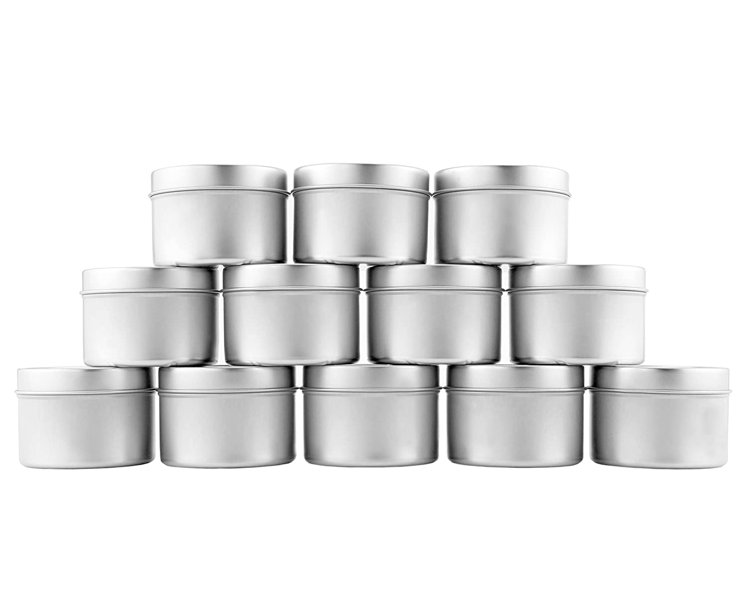 Balms /& Gels 12-Pack Party Favors ; Metal Storage Containers w//Slip-On Lids for Candle Making Spices Gifts 4-Oz Small Candle Tins