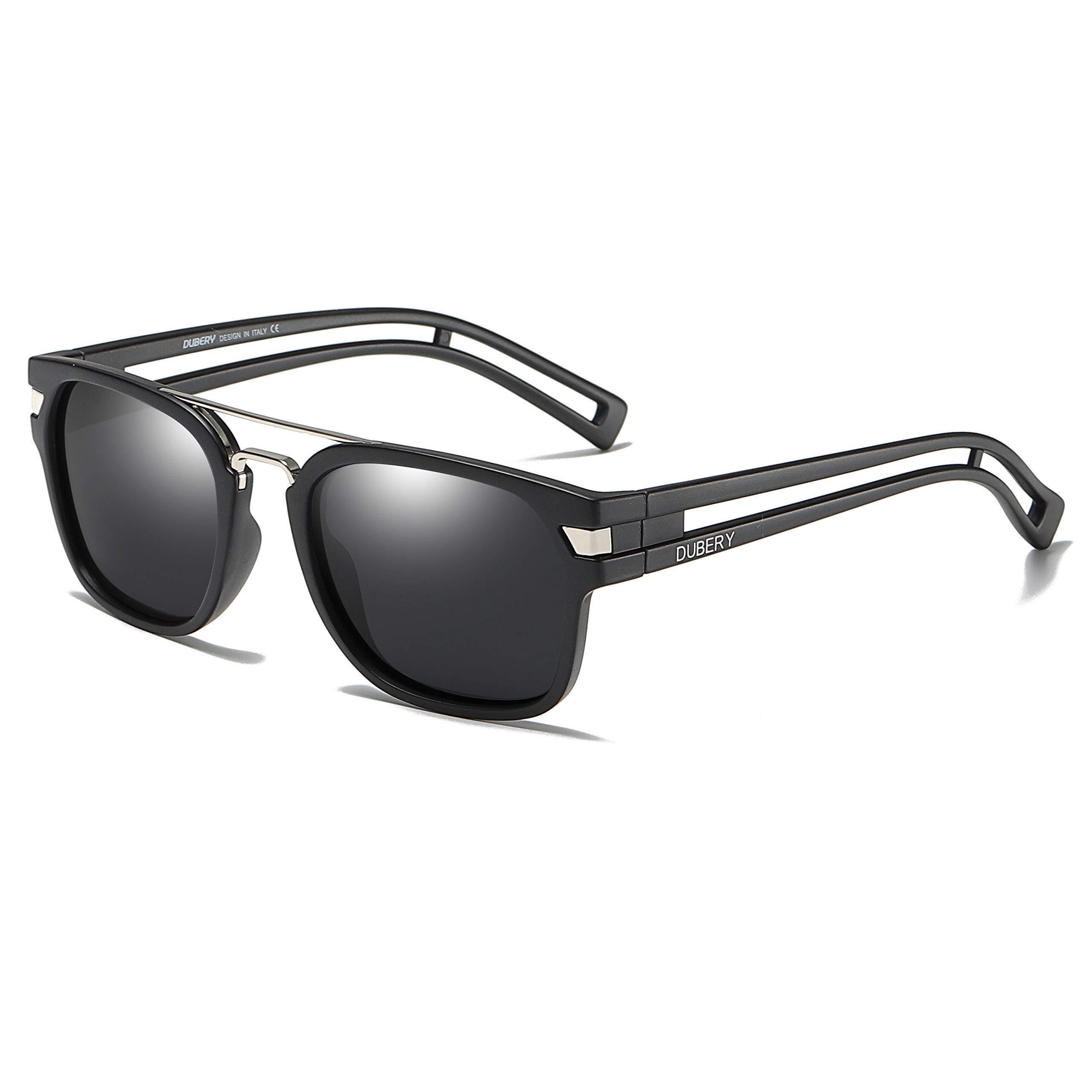 DUBERY Unisex Polarized Sport Sunglasses Outdoor Driving Riding Coating Glasses (#1) by DUBERY