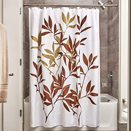Image Unavailable Not Available For Color InterDesign 35640 Leaves Fabric Shower Curtain