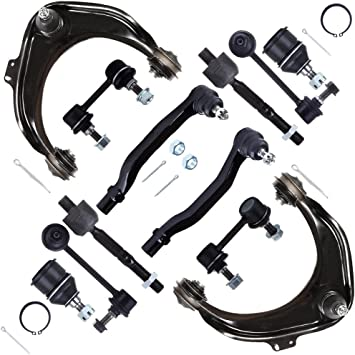 SCITOO 12pcs Suspension Kit 2 Upper Control Arm 2 Lower Ball Joint 2 Outer Tie Rod 2 Inner Tie Rod 2 Front Sway Bar 2 Rear Sway Bar Compatible fit 1998 1999 2000 2001 2002 Honda Accord