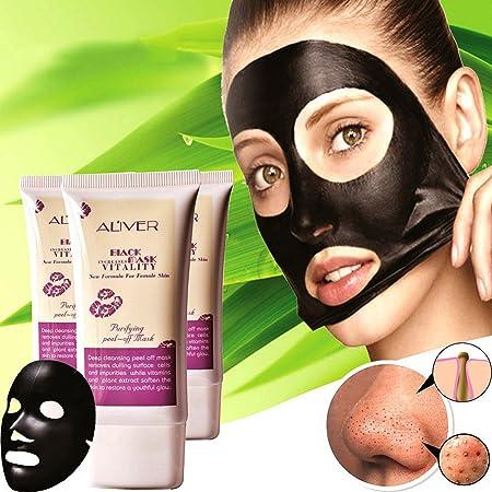 hanyia Blackhead Remover carbón activado peel-off máscara de negro: Amazon.es: Belleza