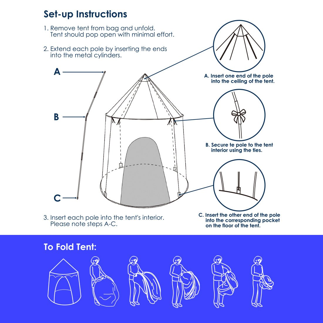 Amazon.com: Ava & Kings Kids Play Tent Childrens Pop Up Playhouse Fort for Toddler Bedroom, Indoor or Outdoor | Little Boys Toys Pretend Beach Sailor ...