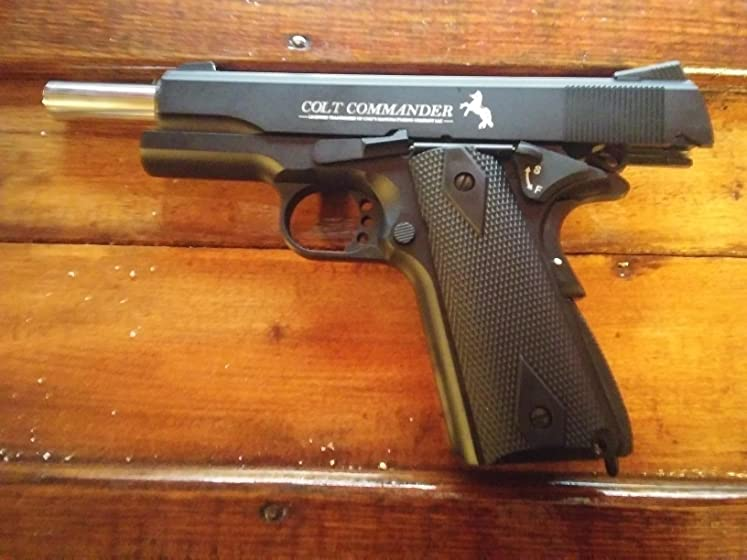 Colt Commander .177 Caliber  Steel BB Air Gun Pistol Good training pistol.