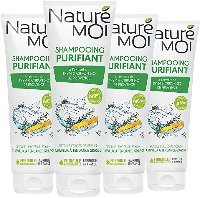Naturé Moi Champú purificante, lote de 4 unidades: Amazon.es: Belleza