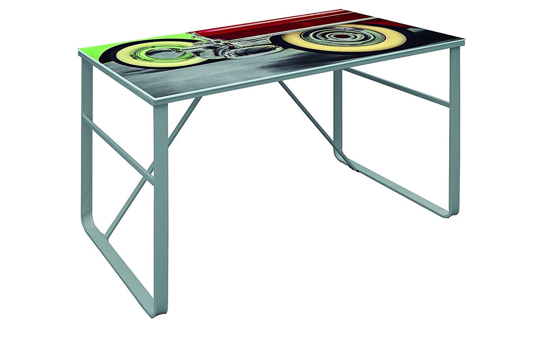 Suarez Farben Vintage Table - acier - argent - 60 x 120 x 75 cm