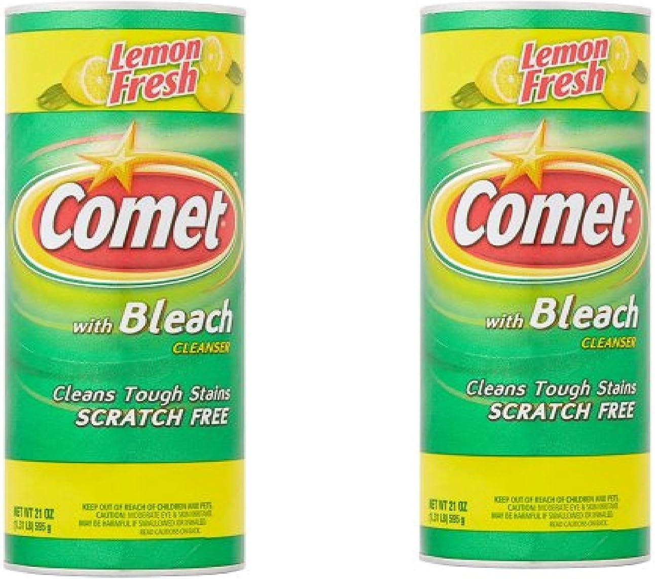 Lemon Fresh with Bleach Cleaner, 21oz Pack of 2