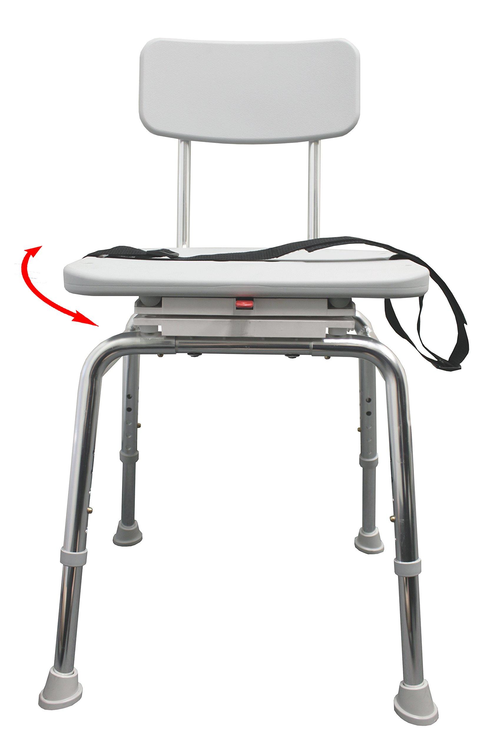 Swivel Shower Chair (75232) - Heavy-Duty Shower Bathtub Chair - Eagle Health Supplies