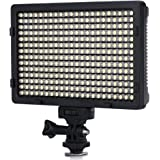 CRAPHY 308 LEDs Photography On Camera Video Light with Dimmable Panel and Filters for Digital Camcorder Canon, Nikon, Samsung, SONY, Pentax, Battery and DC Adapter are NOT Included