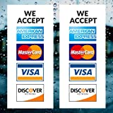 picture relating to We Accept Credit Card Signs Printable identify Indication Global We Settle for Credit score Debit Playing cards Vinyl Sticker (6x4