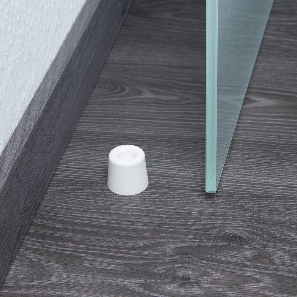 Farbe: wei/ß Sossai 10 x T/ürstopper NTS7-28 Wandschutz geeignet f/ür Bodenmontage Material: Kunststoff TPE Modell: Classic