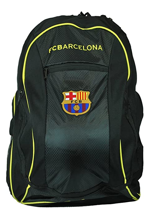 FC Barcelona backpack school mochila bookbag cinch shoe bag official Messi 10 (Black)