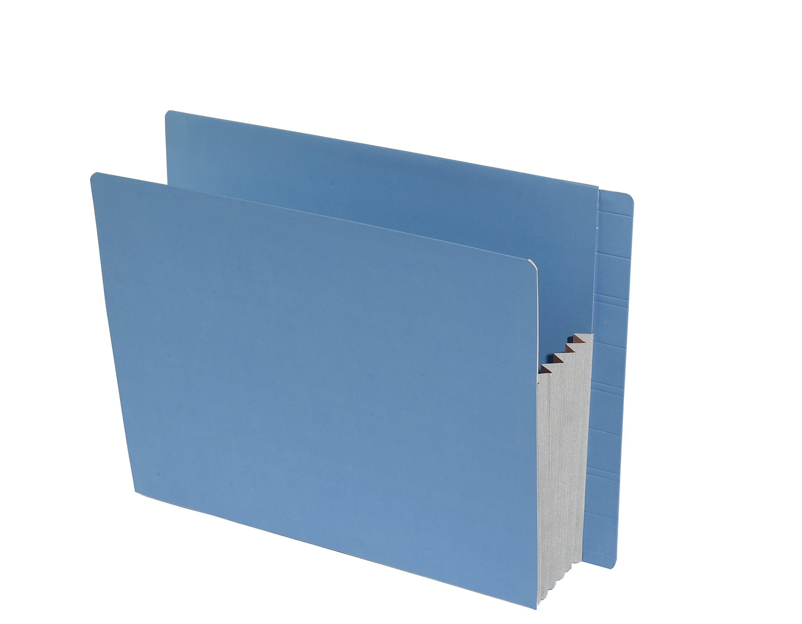 TAB FORTIfile Expansion Pocket, Azure Blue, 31 pt., 5'' Exp, End Tab, Letter, 15 per Pack