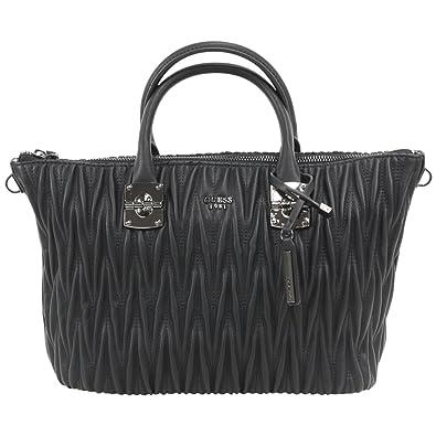 a7d6d3f8b Amazon.com: GUESS Women's Keegan Satchel Black Handbag: Shoes