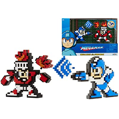 Megaman Classic 8-Bit Figure 2-Pack (Mega Man Vs. Fire Man): Toys & Games