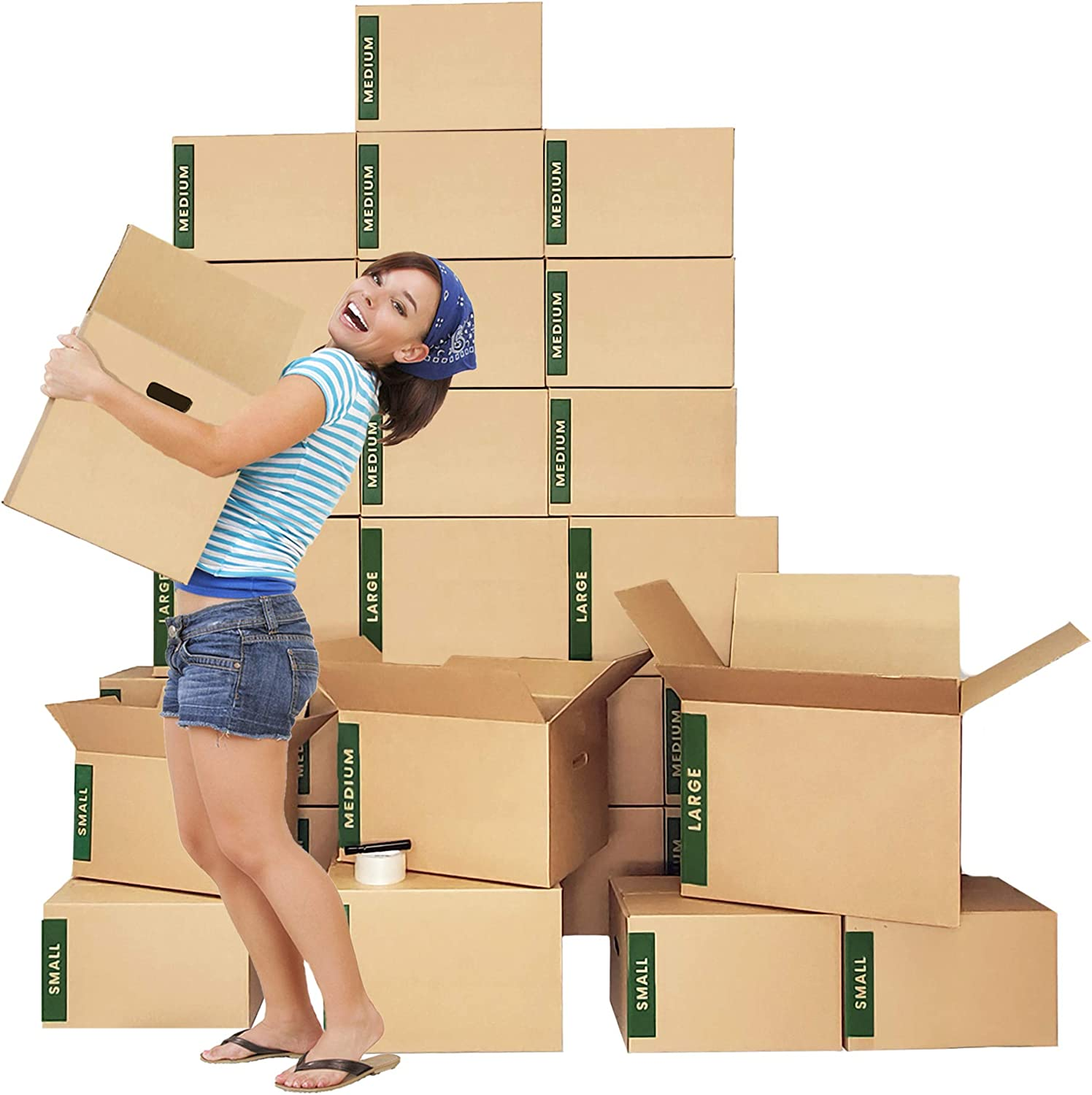 Amazon Com Moving Boxes Kit 30 Moving Boxes Large Medium Small Plus Supplies Cheap Cheap Moving Boxes Office Products