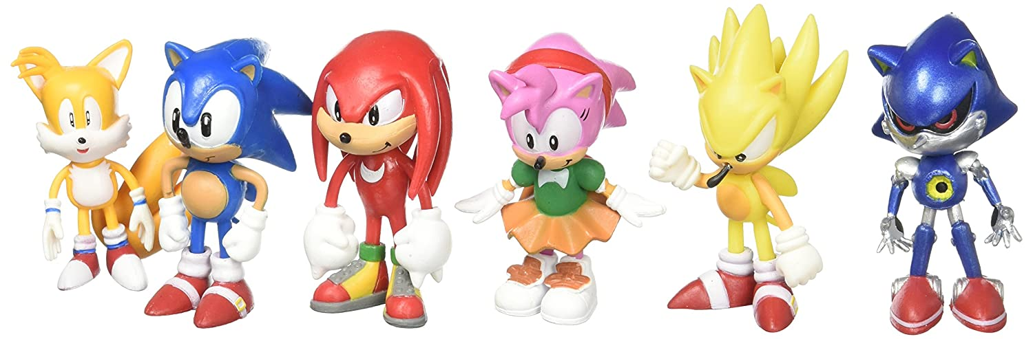 Sonic The Hedgehog Action Figure Toy 6pcs-Set