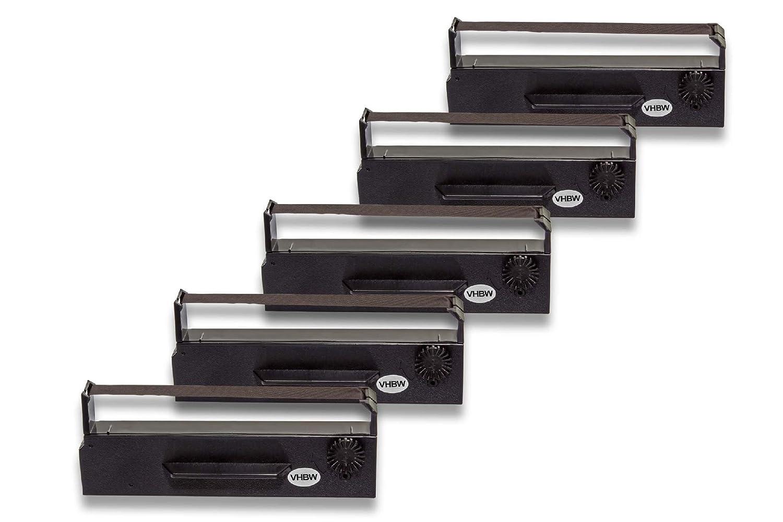 vhbw 10x Cinta de Tinta de Nylon para Impresora matricial Epson TM-U 295 como ERC-27 653N C43S015366