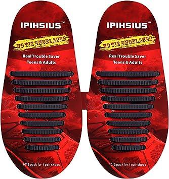 iPihsius - Cordones de Silicona para Zapatos sin Corbata para ...