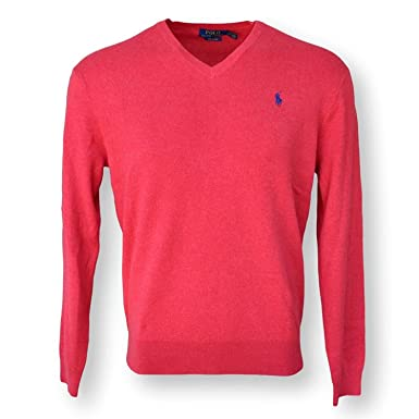 df9a61b019b9fa Image Unavailable. Image not available for. Color: POLO RALPH LAUREN MEN'S  PIMA COTTON V-NECK SWEATER ...