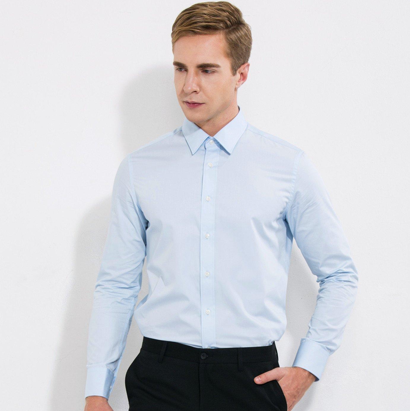 Nvunskd männer langärmelige Shirt Hemd Overall dp Besetzung  Herren Langarm Hemd,Wathet,39
