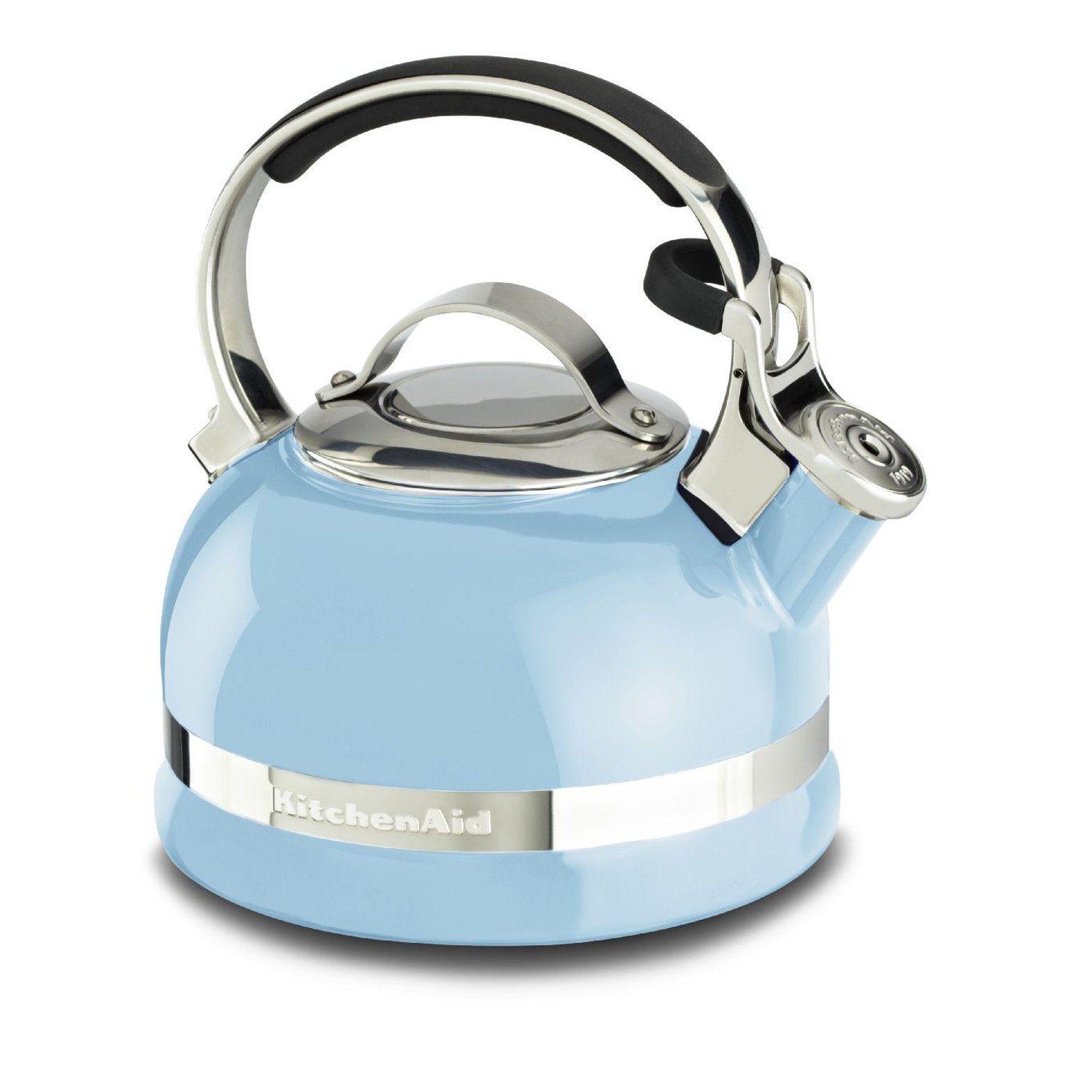 amazoncom kitchenaid ktensbeu quart kettle with full  - amazoncom kitchenaid ktensbeu quart kettle with full stainlesssteel handle and trim band  cameo blue kitchen  dining