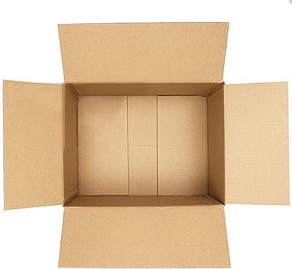 5 10 20 40 x cajas de cartón grandes de tamaño grande y fuertes, cajas de cartón para mudanzas, color 101,6 - 21