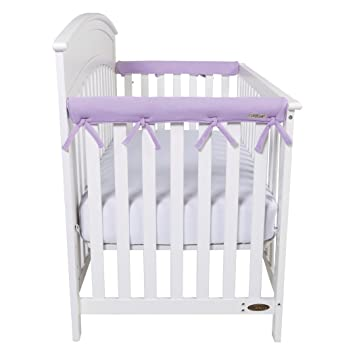 Wide for Crib Rails Measuring up to 18 Around! Lavender Trend Lab Fleece CribWrap Rail Cover for One Long Rail and Two Crib Side
