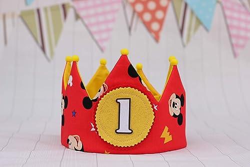 Corona de tela para cumpleaños decoración infantil regalo ...