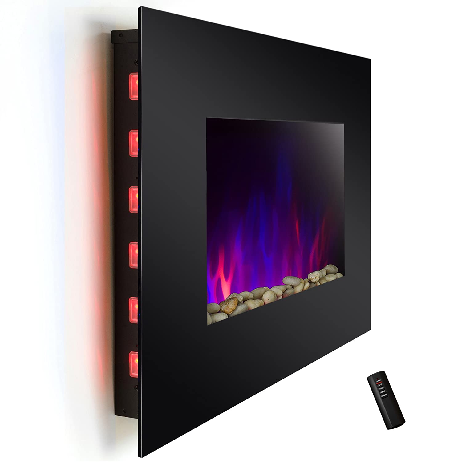 36  Electric Wall Mount Fireplace Heater with Backlight and Remote Control    Wall Mounted Fireplace   Amazon com36  Electric Wall Mount Fireplace Heater with Backlight and Remote  . Electric Wall Fireplace Heaters. Home Design Ideas