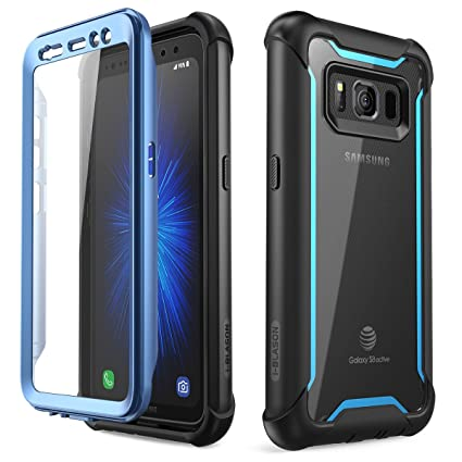 i-Blason Case for Galaxy S8 Active 2017 Release, [Ares] Full-body Rugged Clear Bumper Case with Built-in Screen Protector (Not Fit Regular Galaxy ...