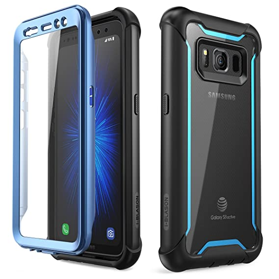innovative design 0f3ed 2a6d9 i-Blason Case for Galaxy S8 Active 2017 Release, [Ares] Full-body Rugged  Clear Bumper Case with Built-in Screen Protector (Not Fit Regular Galaxy ...