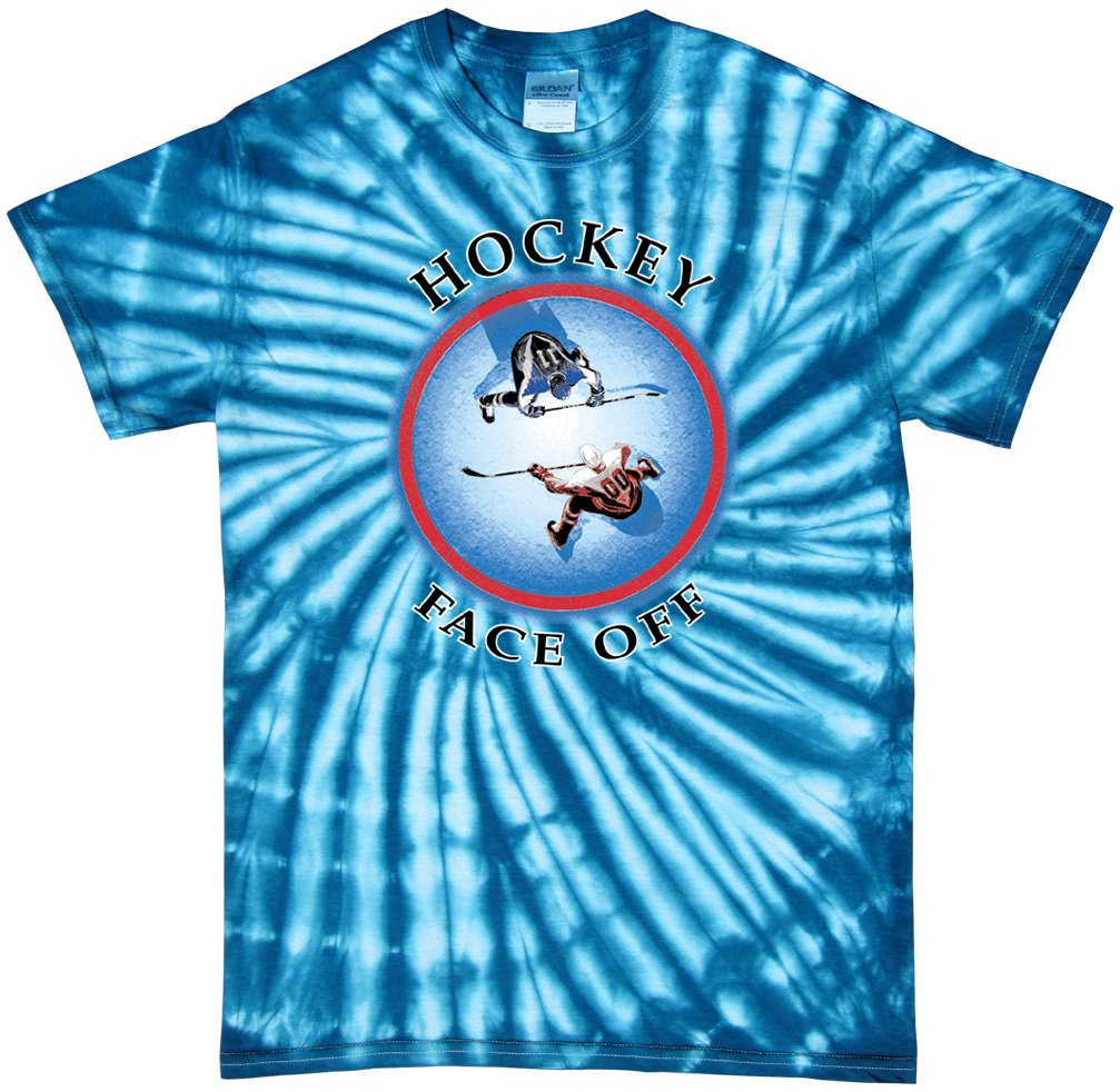 素晴らしい品質 Hockey Tie ブルー Tシャツ: Hockey Face Off ( Blueburst Tie Dye X-Large ) Adult X-Large ブルー B00PSPGWOA, ワインと地酒の店 かたやま:04212470 --- a0267596.xsph.ru