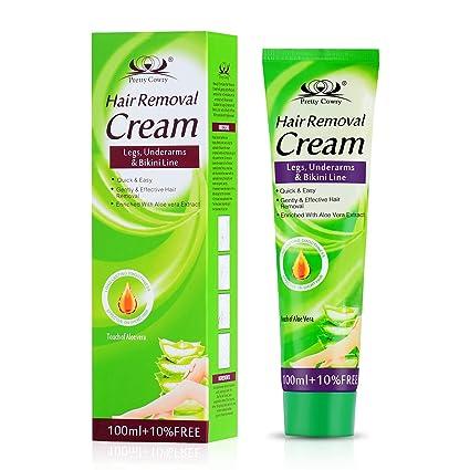 Crema depilatoria para la piel sensible para mujeres, cabello rebelde y crema depilatoria de bikini