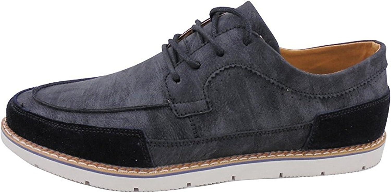 M US Losver Mens Dress Shoes Microfiber Lace-up Mocassin Brown 7.5D