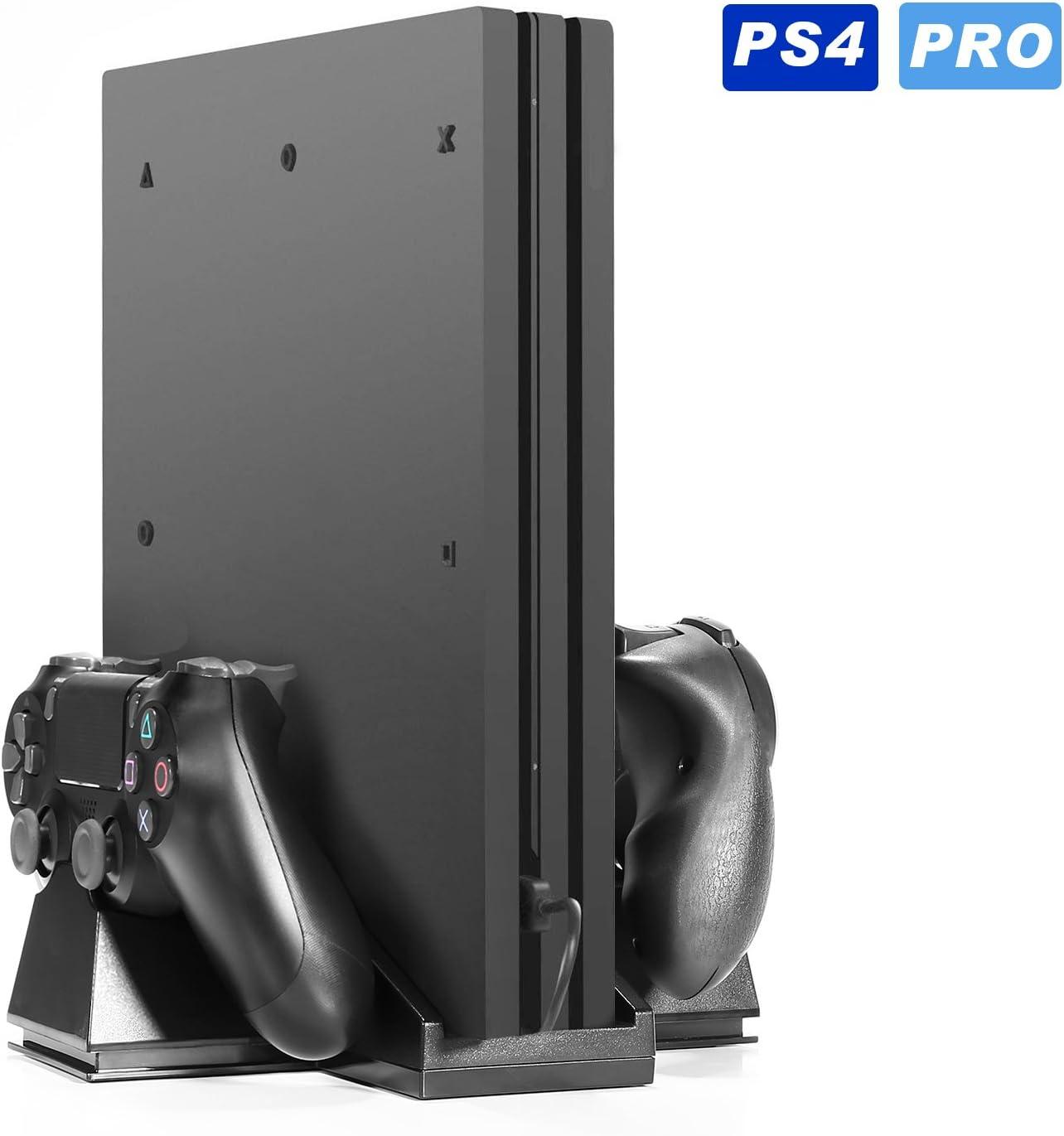 PS4 Pro] Kingtop Refrigeración para PS4 con Dos Ventiladores de ...