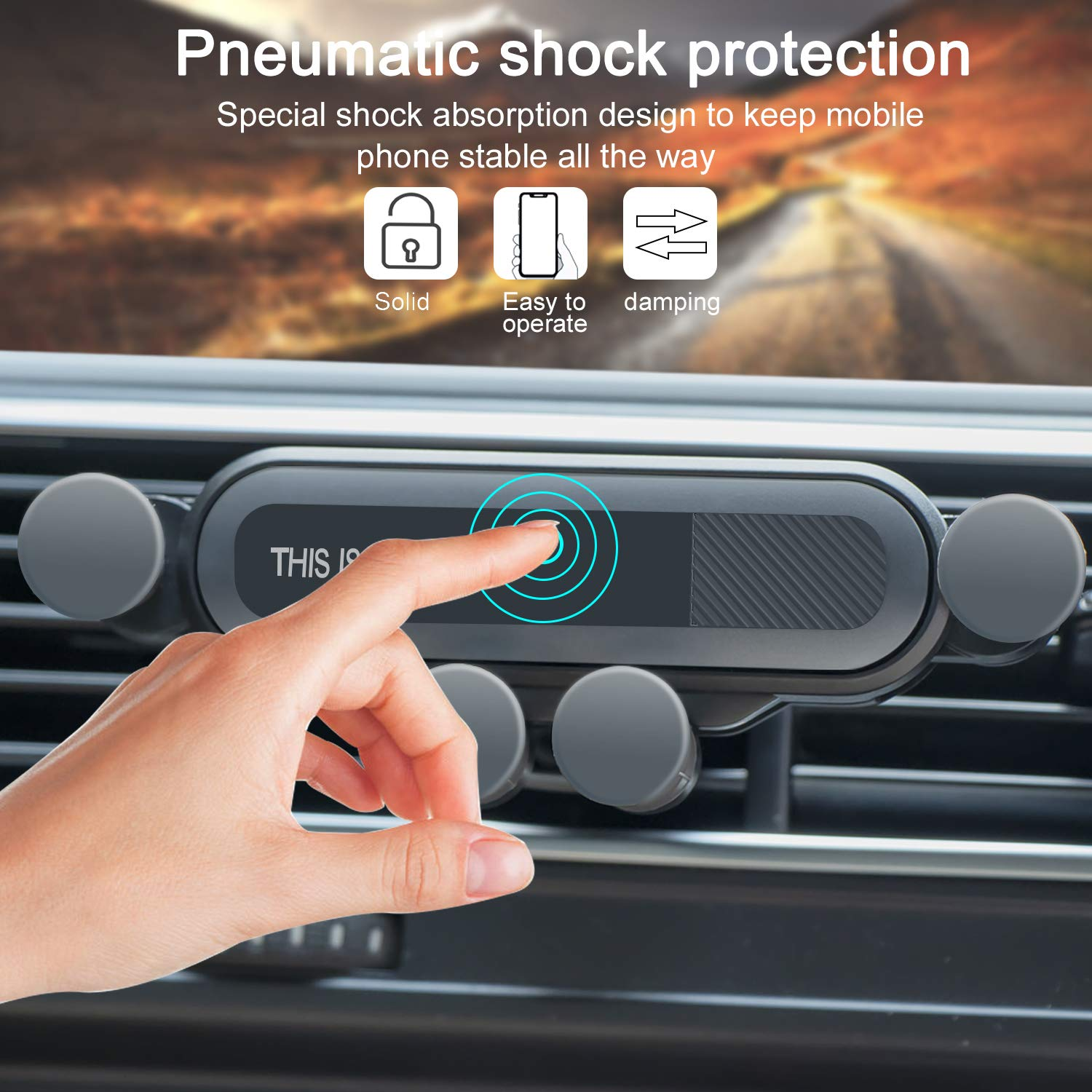 7//7 Plus Samsung Galaxy S 8//8 Plus Car Phone Mount,Car Vent Cell Phone Holder Car Air Holder Automatic Locking Cell Phone Holder With Pneumatic Shock Protector Compatible For Iphone Xs//Xs Max//Xr//X